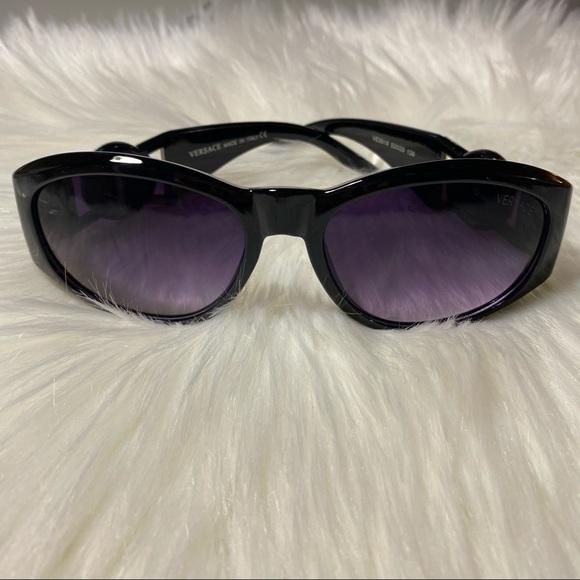 Versace Black Logo Sunglasses